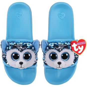 Ty Plush - Sequin Slides - Slush the Husky (Size: 36-38)