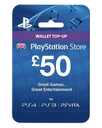 PlayStation Network 50 GBP Card - UK PSN Only
