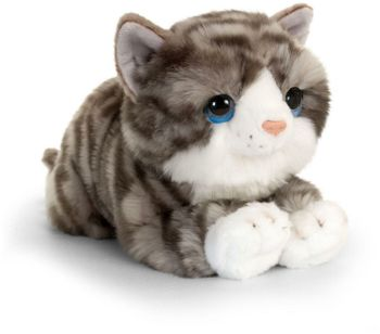 Keel Toys Grey Cuddle Kitten 32 cm