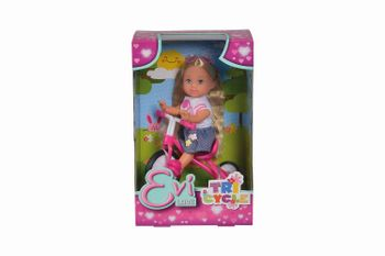 Simba Evi doll with a bicycle