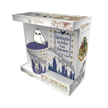Gift Box: Harry Potter - Hedwig Mug (250ml), Keychain and Notebook (A6)