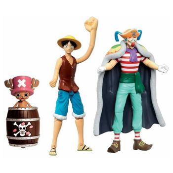 One Piece - Monkey D. Luffy, Chopper and Buggy Action Figures 3-Pack