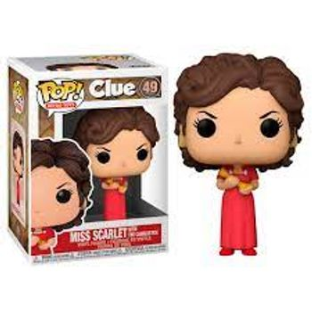 POP! Retro Toys: Clue - Miss Scarlet With The Candlestick Vinyl Figure