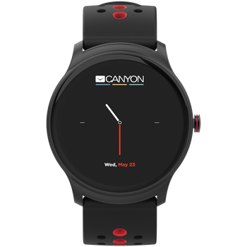 CANYON Oregano SW-81 Smart watch,Black-Red, (ISO, Android)