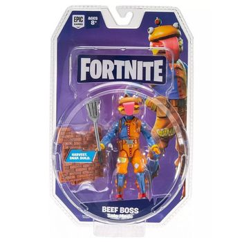 Fortnite: Solo Mode - Boss Beef Action Figure Pack, 10cm