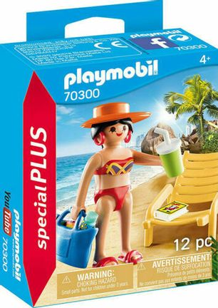 Playmobil Special Plus - Sunbather with Lounge Chair (70300)