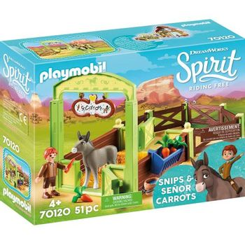 Playmobil Spirit - Snips and Señor Carrots with Horse Stall (70120)