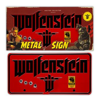 Wolfenstein 'The New Colossus' Metal Sign