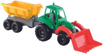 Ecoiffier Small Tractor + Trailer