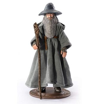 BendyFigs: Lord of the Rings - Gandalf The Gray Figure, 19cm