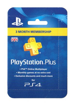 PlayStation Plus 3 Month Membership Card - UK PSN Only